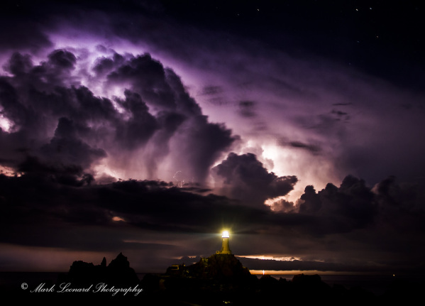 Lightning Storm, Jersey. C.I by Mark Leonard