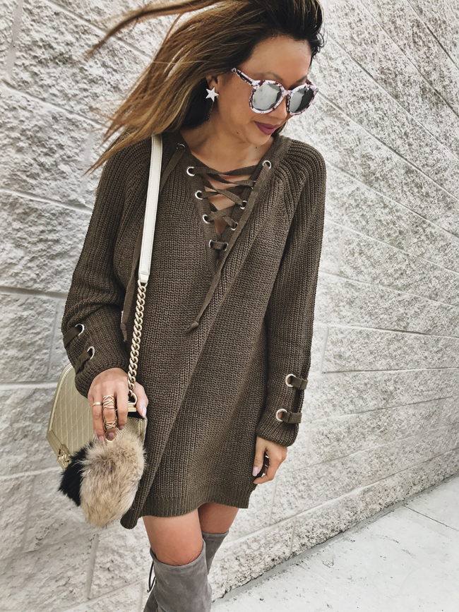Style Steal Sweaters, Fall Style, Lace Up Front Sweater