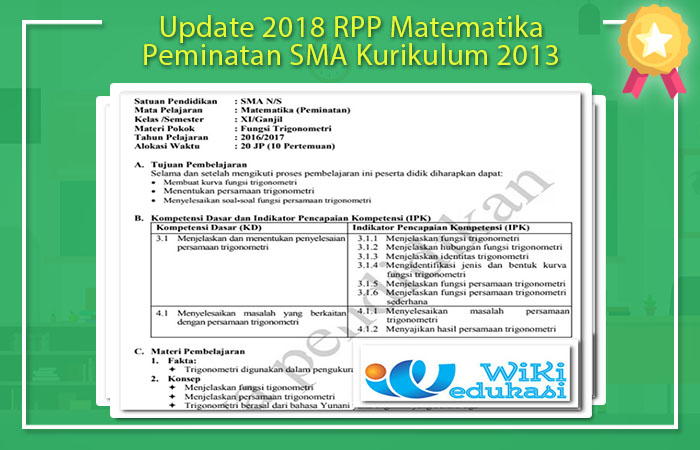 RPP Matematika SMA Kurikulum 2013