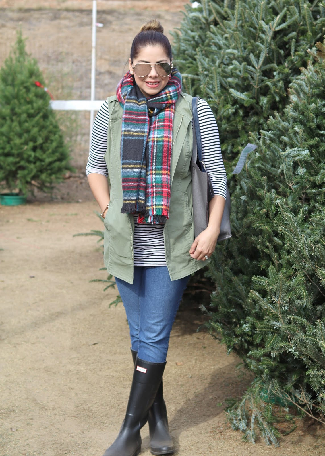 quay x desi perkins sunglasses, target plaid scarf, how to wear a plaid scarf