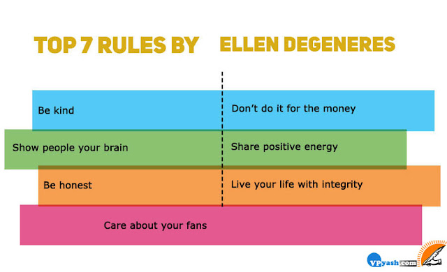 Ellen DeGenerestop 7 inspiring rules for success