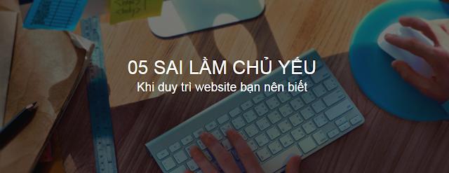 Sai lầm khi duy trì website