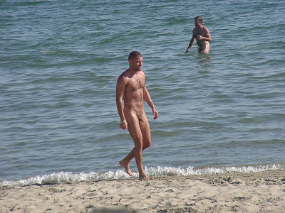 nude beach erection