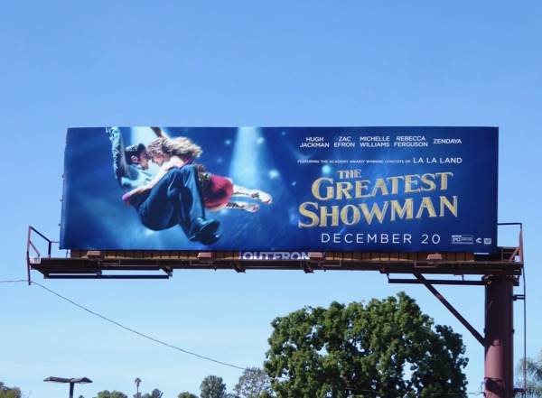 Greatest Showman film billboard