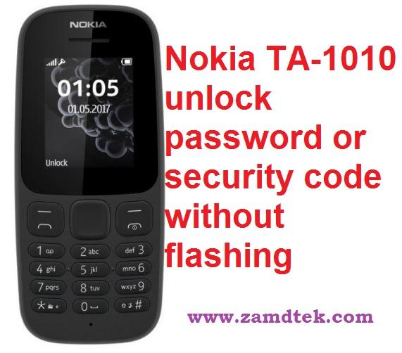 How to remove Nokia TA-1010 or Tenna password