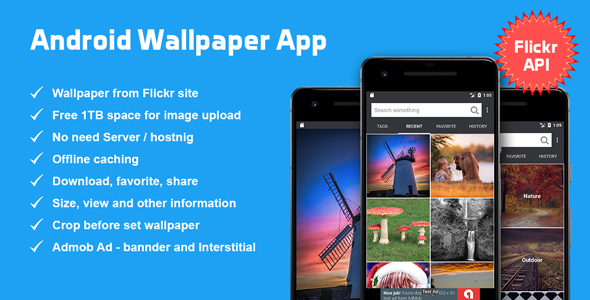 Android Wallpaper App based on Flickr API. TechSter.XYZ