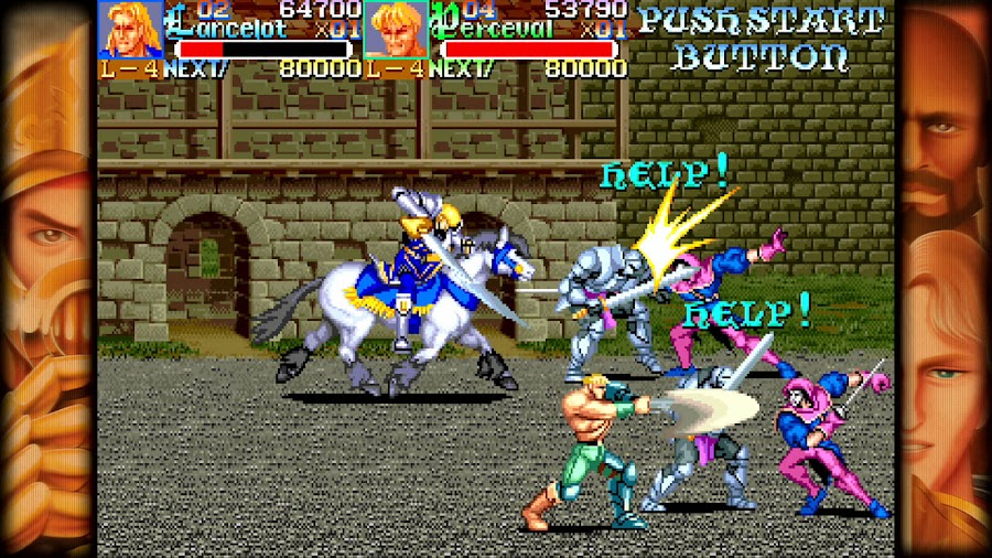 capcom beat em up games knights of the round