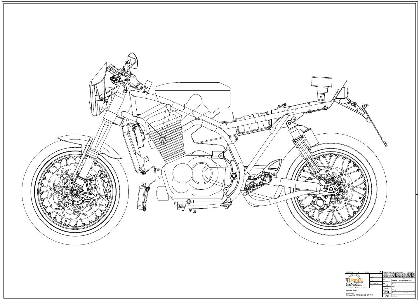 Racing Cafe Breganze Motorcycles Sf 750 Drawings