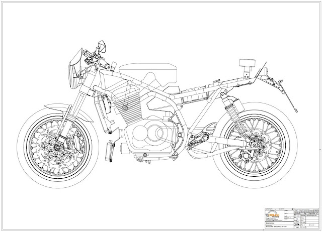 racing caf u00e8  breganze motorcycles sf 750 drawings