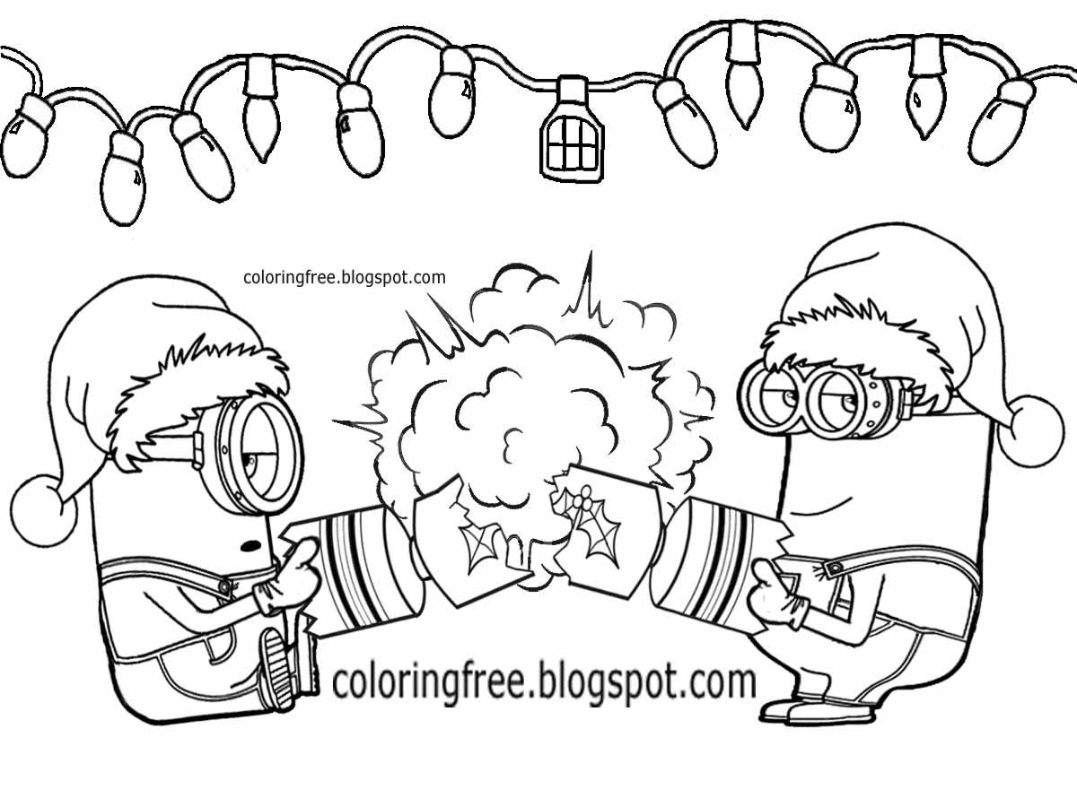 Minion Christmas Worksheet