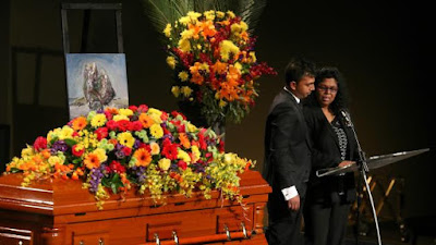 Chinthu, the brother of Myuran Sukumaran, and his mother Raji make a heartfelt speech during the Bali Nine ringleader's funeral.