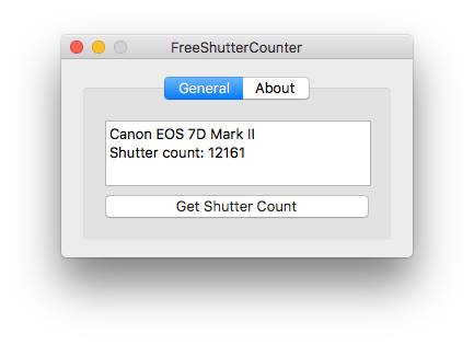 FreeShutterCounter (mac OS application)