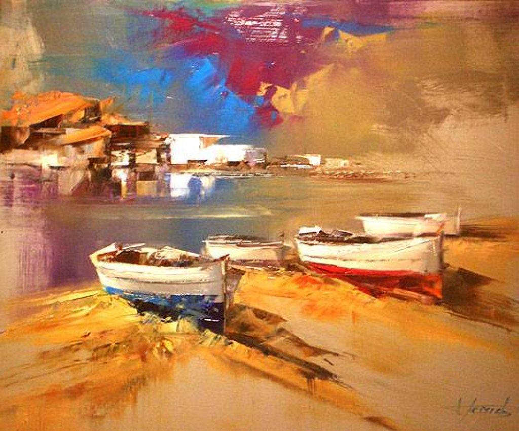 Cuadros modernos pinturas y dibujos la espatula en el paisaje marino cuadros de josep teixido - Pintores de barcelona ...