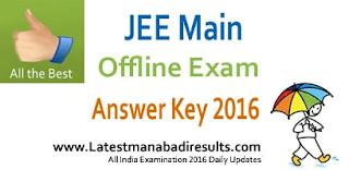 JEE Main Answer Key 2016, JEE Main Offline Exam 03 April 2016 Answer Key Download, CBSE JEE Main 2016