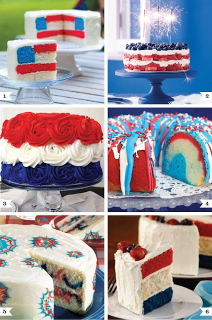 Cake in colors of American flag