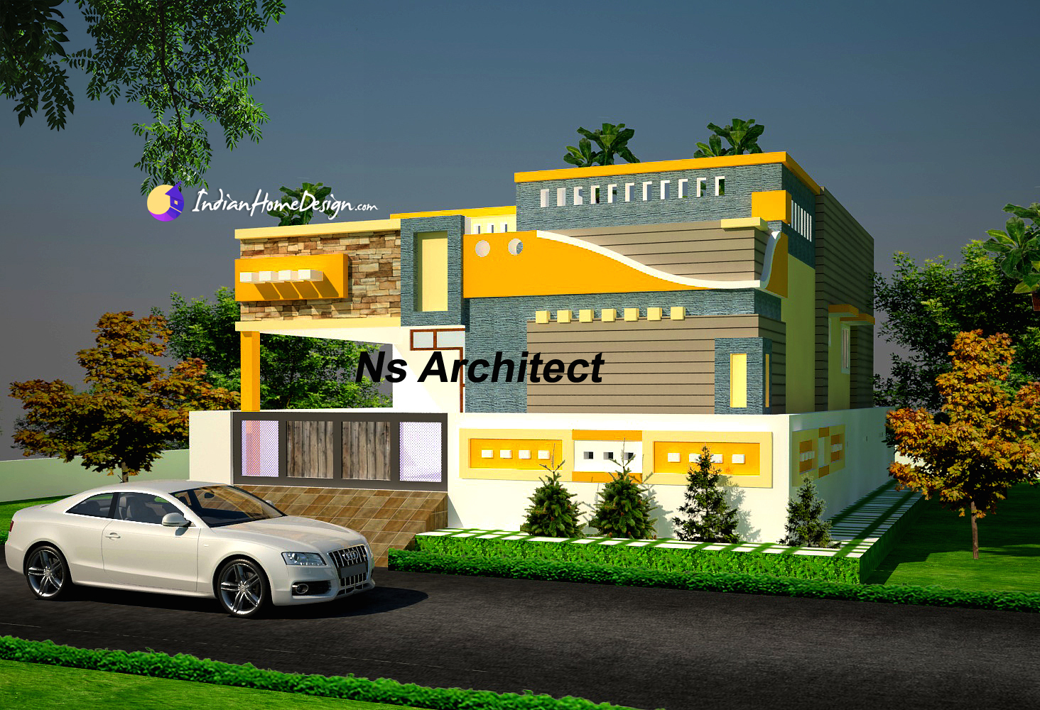 Tamilnadu Flat roof Small 800 sqft Home design Ideas by NS Architect