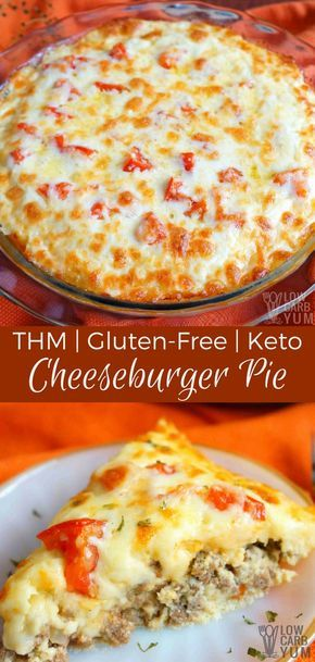 Keto Low Carb Cheeseburger Pie (Gluten Free, THM)