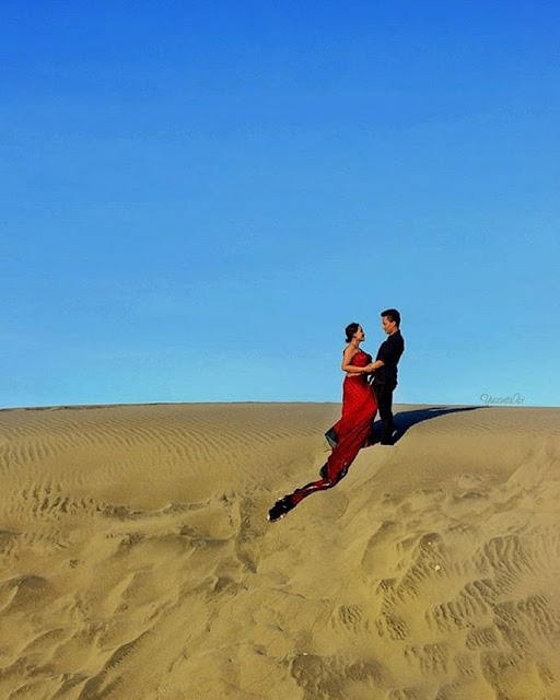 foto prewedding di gumuk pasir parangkusumo
