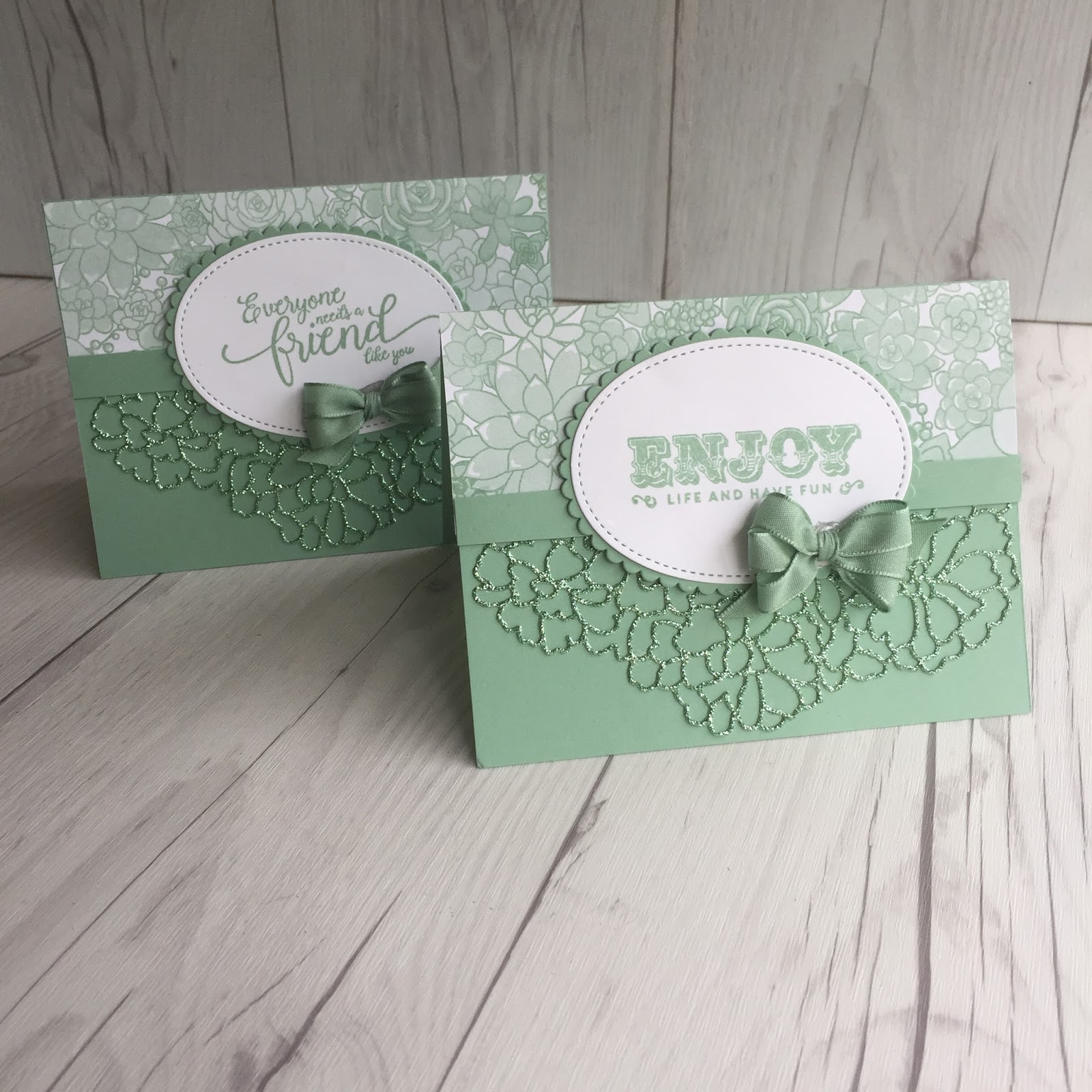 stamped sophisticates stampin up mint macaron glimmer paper