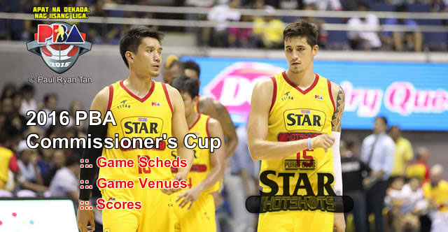 List of Star Hotshots 11 Games Elimination Round 2016 PBA Commissioner's Cup