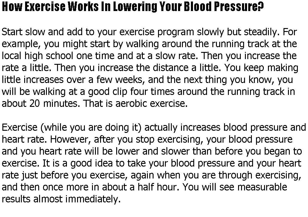 It Has Long Been Known Ways To Control Blood Pressure Eat Healthy High After Exercise Stay Away From Soda And