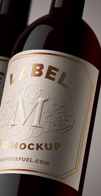 Etiqueta para botella de vino en formato PSD
