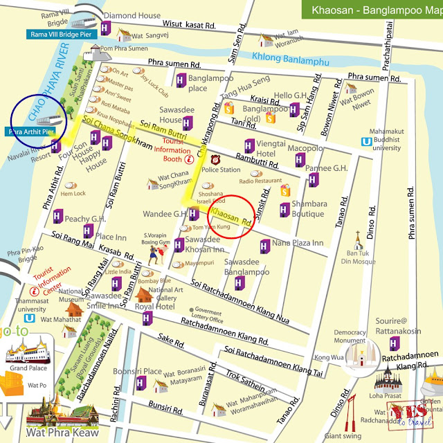Khao San Road Bangkok Location Map,Location Map of Khao San Road Bangkok,Khao San Road Bangkok Accommodation Destinations Attractions Hotels Map Photos Pictures,khao san road bangkok bts bars restaurants hostels night market nightlife map