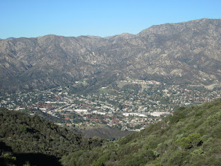 View northwest toward Cresenta Valley and San Gabriel Mountains