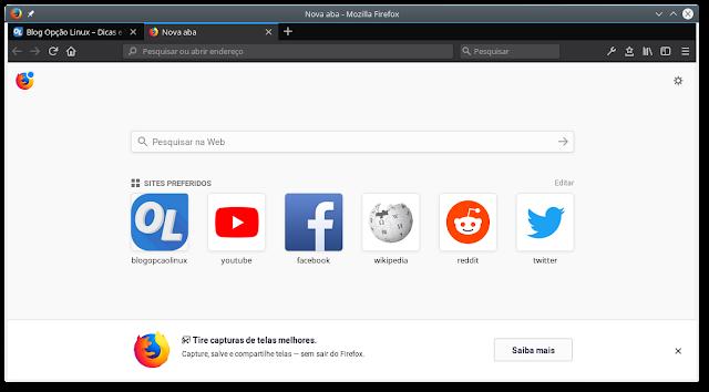 Navegador Mozilla Firefox no Linux