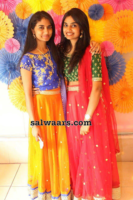 Mother and Daughter Lehenga