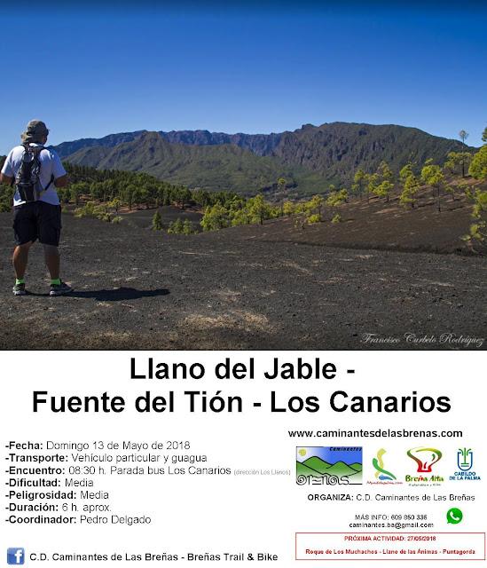 Caminantes de Las Breñas, Domingo 13 de Mayo: Llano del Jable – Fuente del Tión – Los Canarios