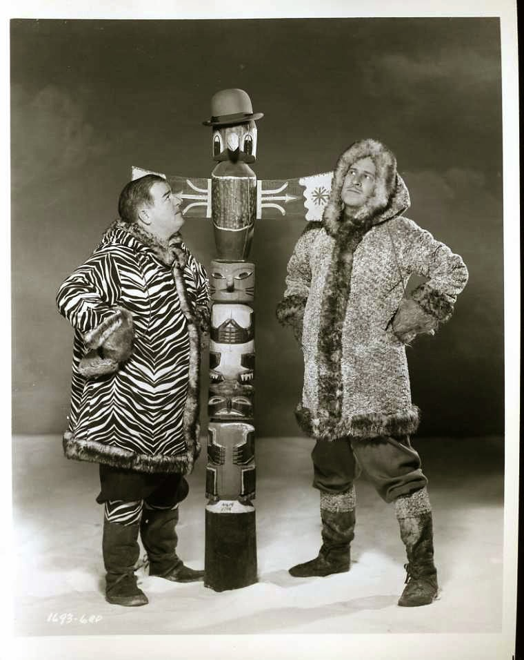 Bud Abbott and Lou Costello in the Movie 'Lost in Alaska' - 1952