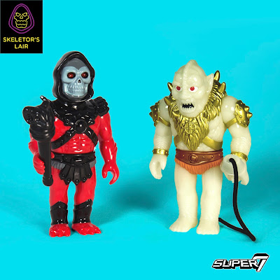 San Diego Comic-Con 2017 Exclusive Masters of the Universe Red Skeletor & Glow Beastman Sofubi Vinyl Figures by Super7