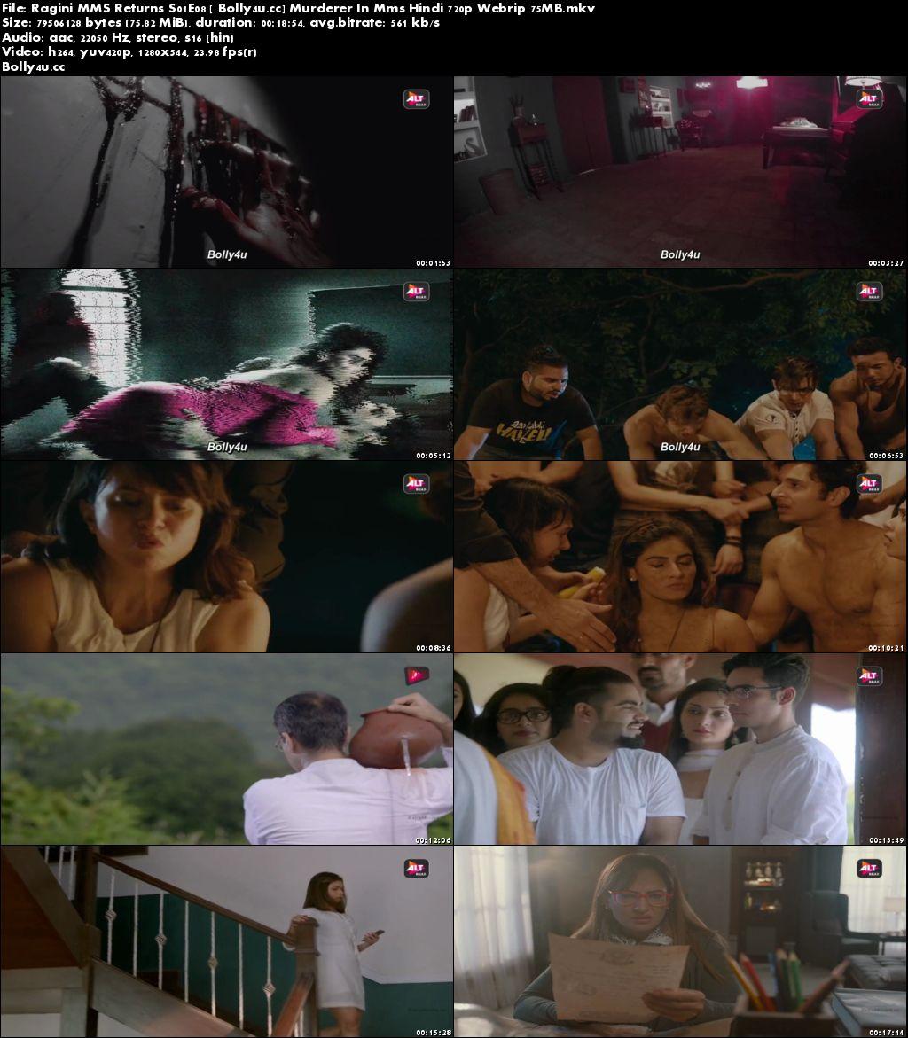 Ragini MMS Returns S01E08 Murderer In MMS WEBRip 75MB Hindi 720p Download