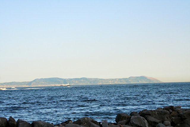 scogli, sassi, mare, acqua, monti, cielo
