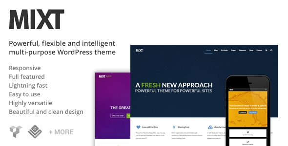Download MIXT Powerful Multi-Purpose WordPress Theme