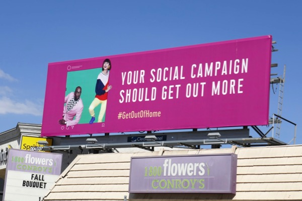 social campaign Get out of home billboard