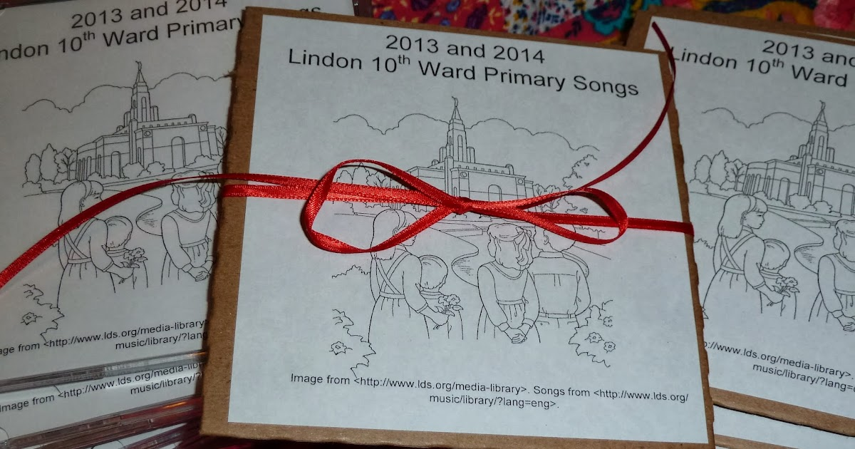 Primary Singing Time Chorister Ideas: Primary Song CDs for the