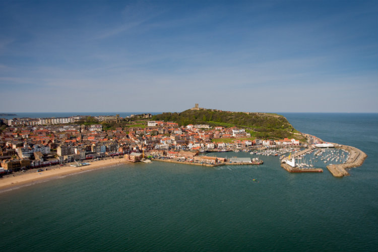 Aerial photo of Scarborough's South Bay