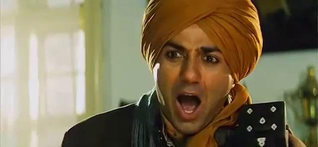 Screen Shot Of Hindi Movie Gadar Ek Prem Katha (2001) Download And Watch Online Free at worldfree4u.com