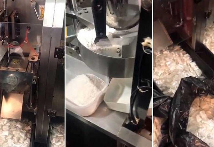 VIDEO: Poderosa Máquina empaca 150 mil bolsas de cocaína por día, la tecnología usada con fines ilicitos