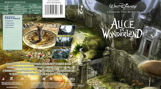 Alice In Wonderland Bluray Cover