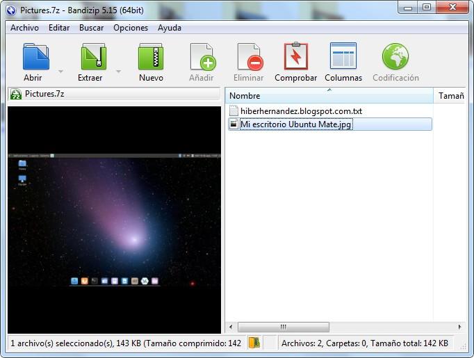 Interfaz de Bandizip el mejor compresor gratuito para Windows - El Blog de HiiARA