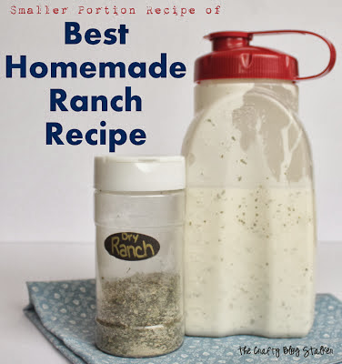 Homemade Ranch from The Crafty Blog Stalker