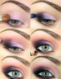 Tutorial for Purple Smokey Eye Making