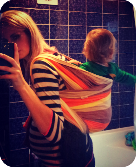 babywearing whilst pregnant, international babywearing week, pregnant carrying toddler