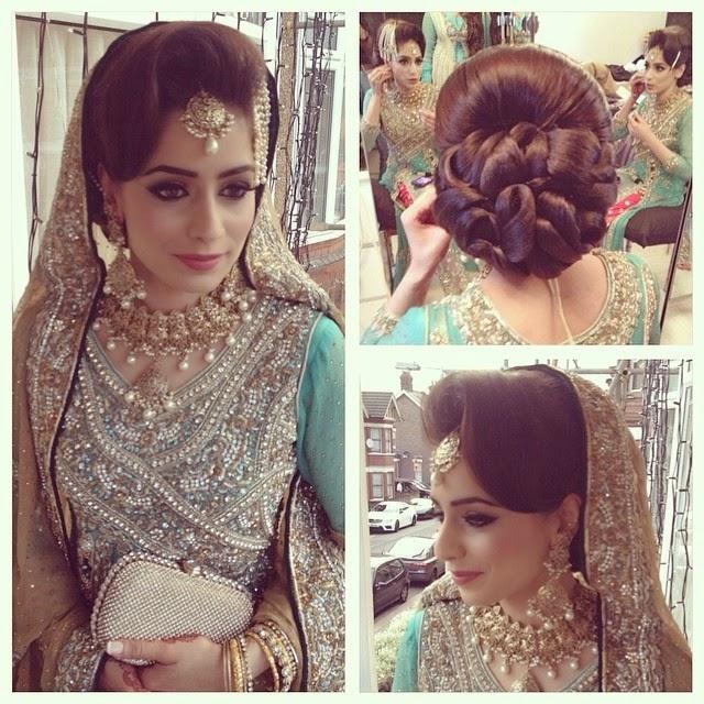 Wedding Day Hairstyles: Aamir Naveed Bridal Hairstyles 2015