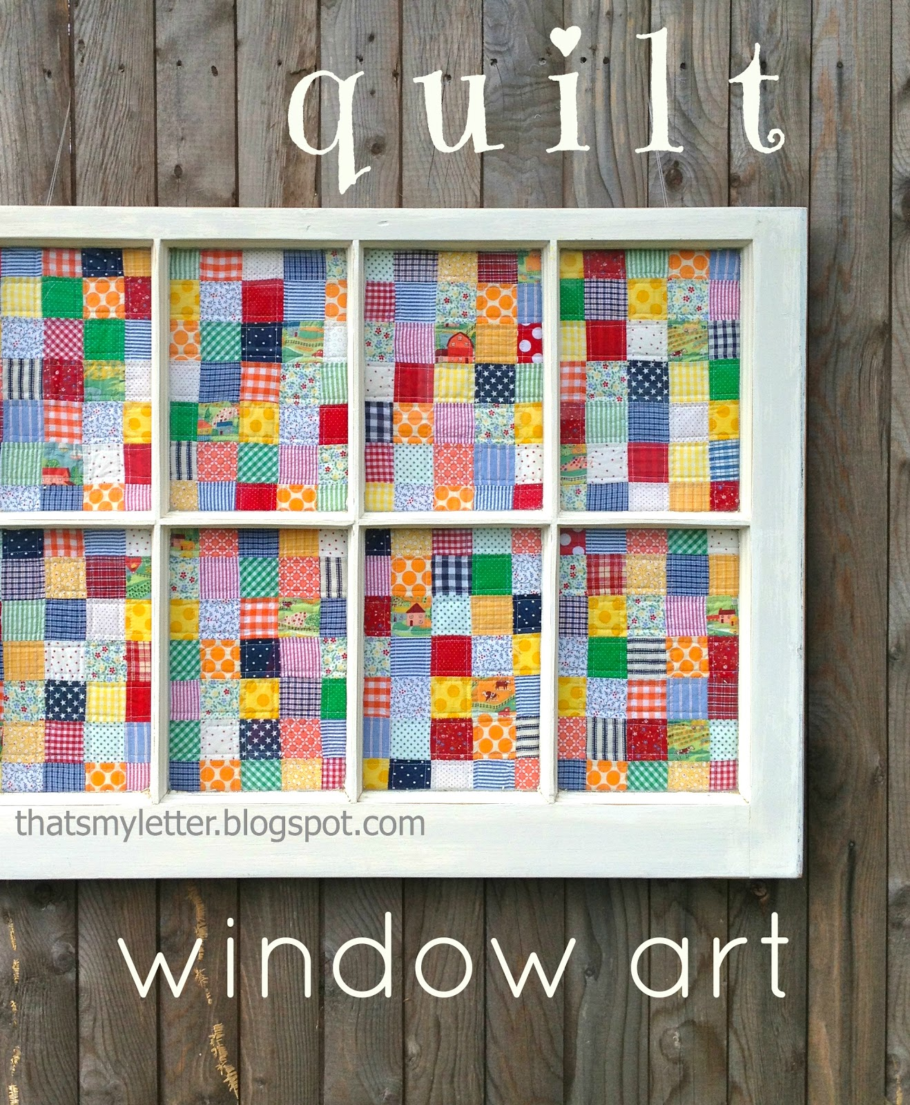 That S My Letter Q Is For Quilt Window