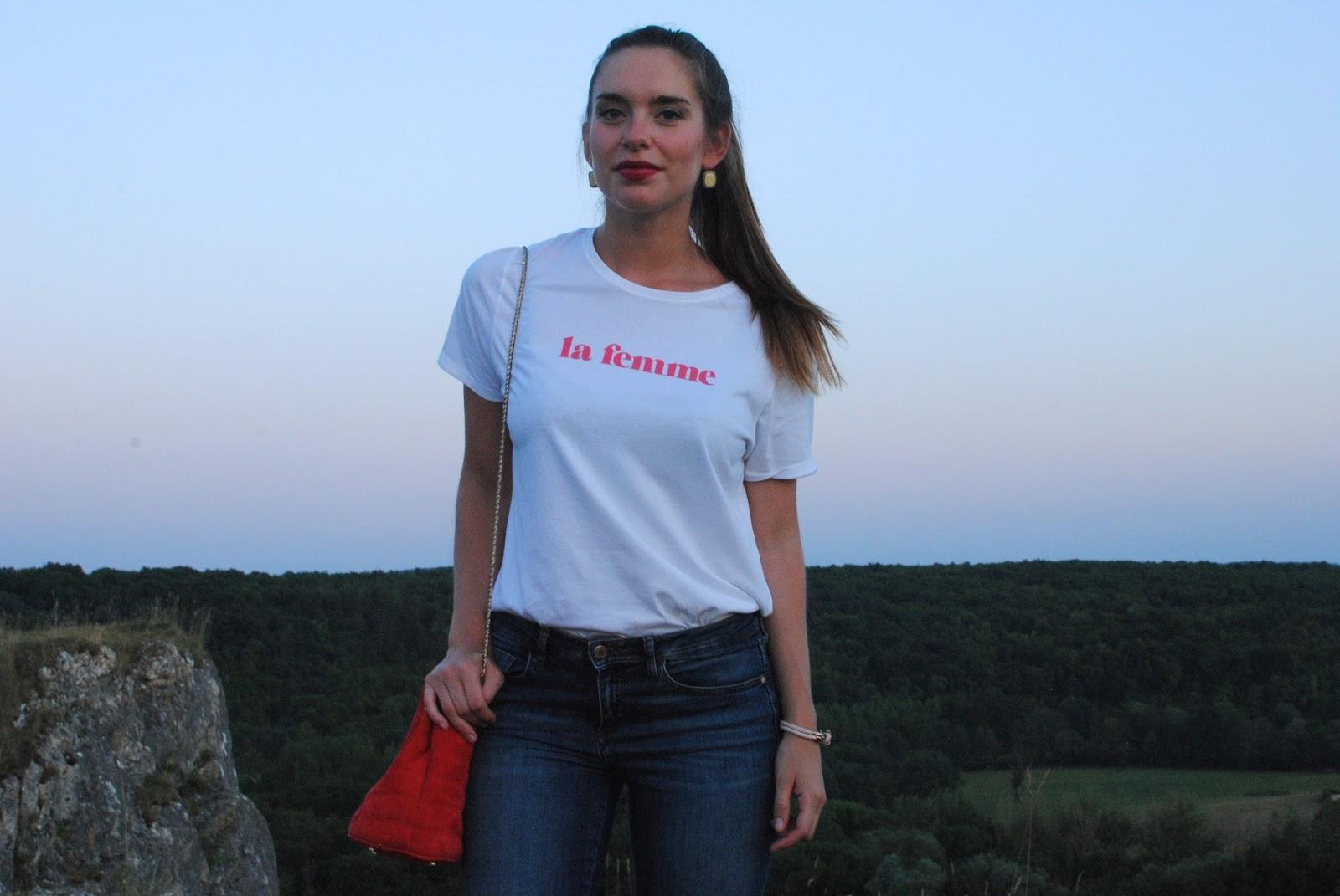 teeshirt la femme blogueuse