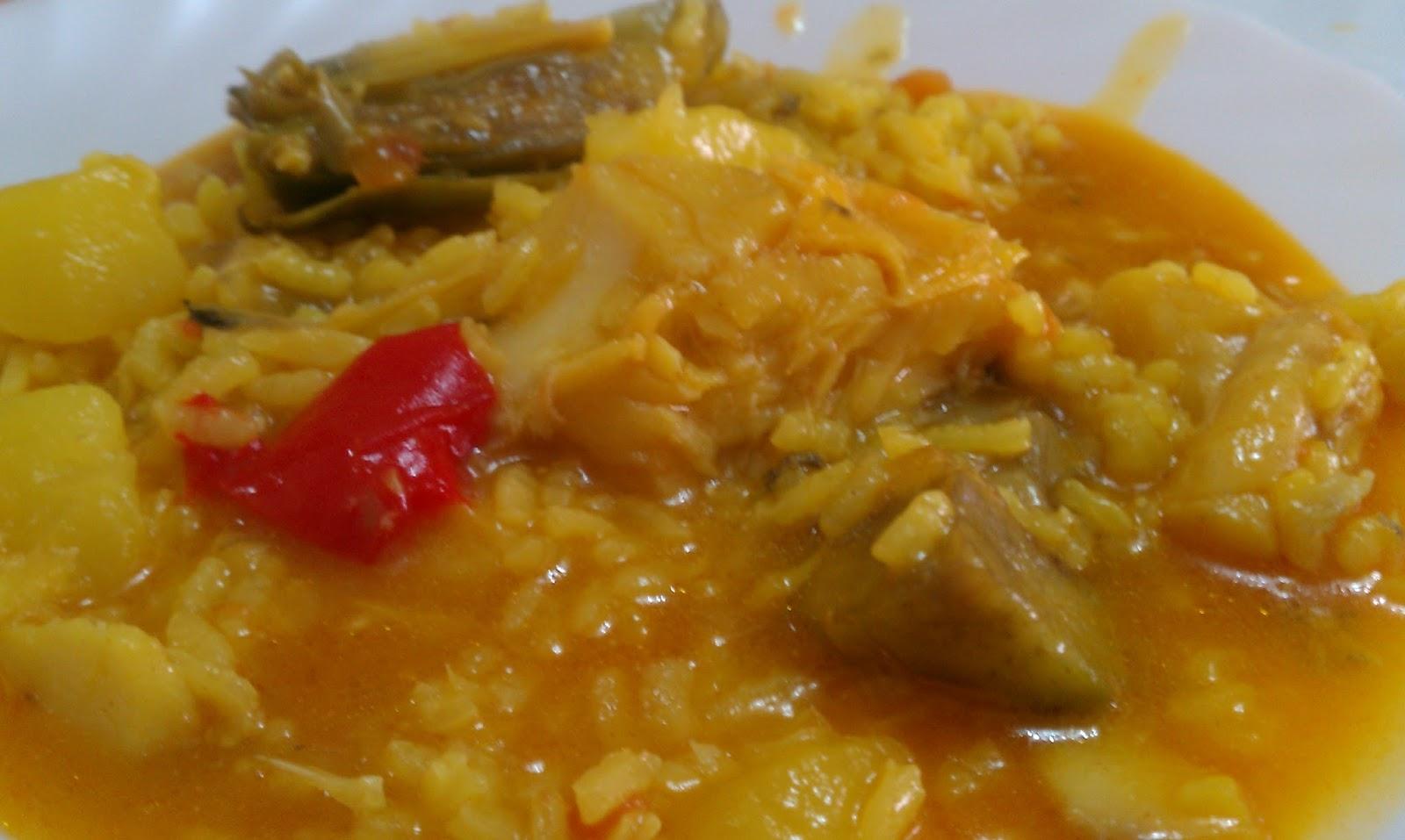 Las recetas de loli arroz con bacalao - Arroz con bacalao desmigado ...